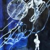 Funambule cosmique. 65x50 cm.