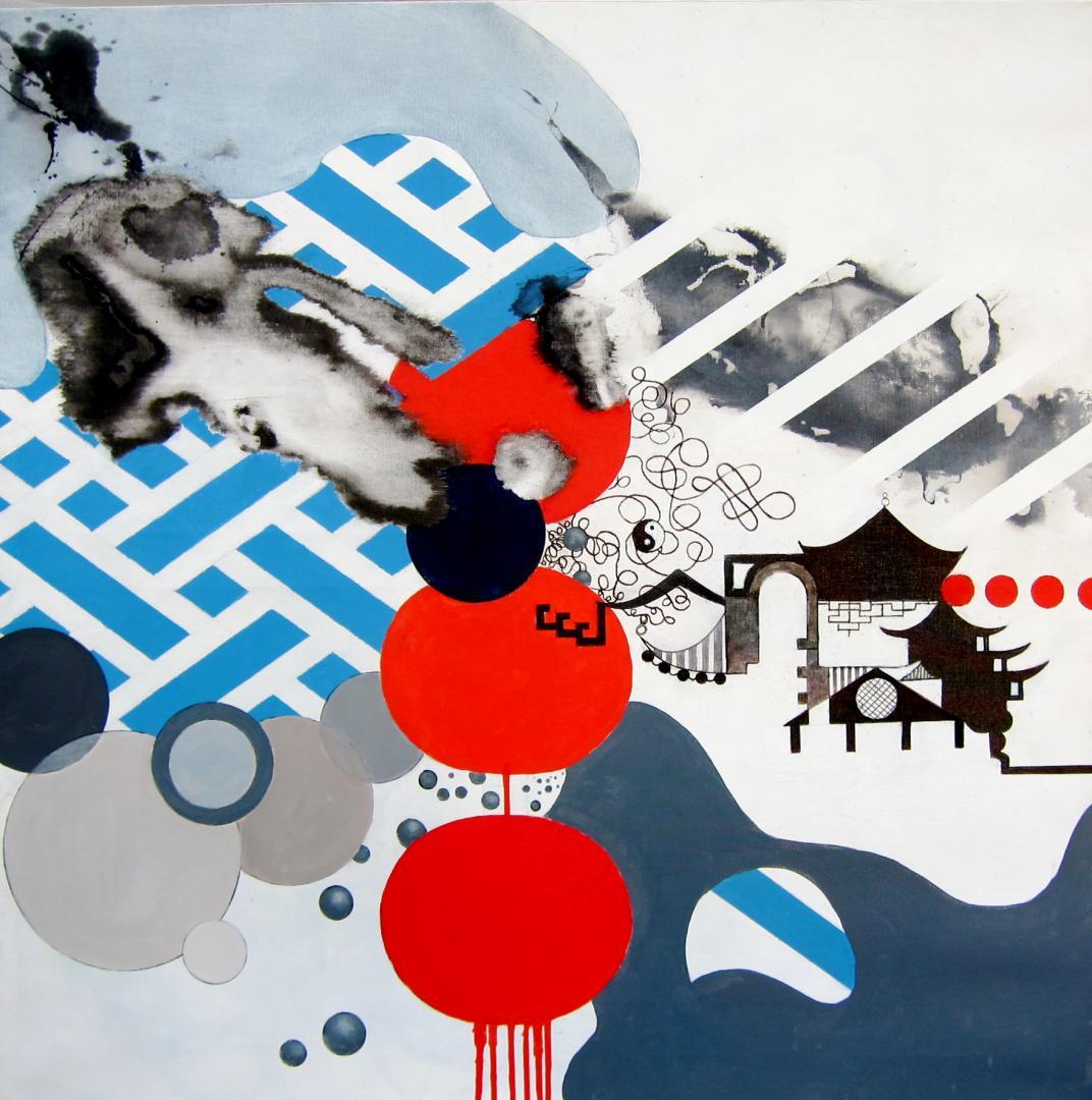 Variation «Yin et Yang» - 80x80 cm