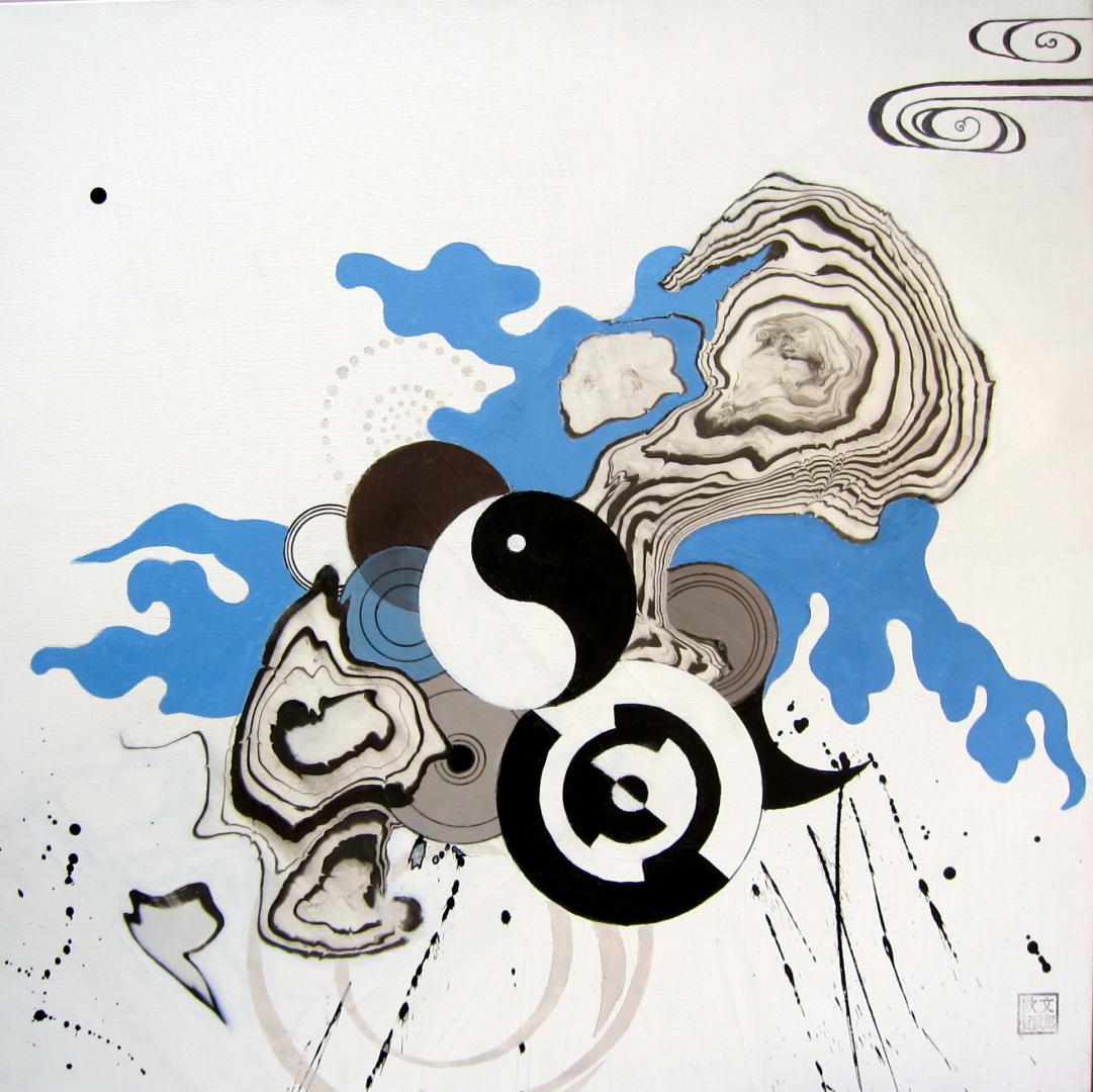Variation Yin et Yang N°1. 80x80 cm.